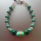 Handmade Green and white pearl tribal bracelet