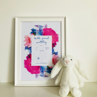 Personalised Birth Date Print - Birth announcement - nursery - Birth stats