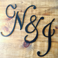 Giant Flower Wall Wedding Initial Sets Name Signs Handpainted Personalised Wood