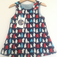 Polar Bear Party 1 year-old Reversible dress