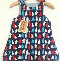Polar Bear Party 6-12 month Reversible dress