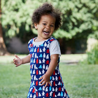 Polar Bear Party 4 year-old Reversible dress