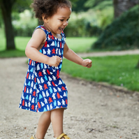 Polar Bear Party 3 year-old Reversible dress