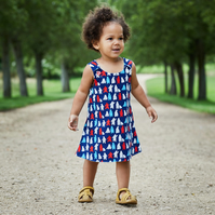 Polar Bear Party 2 year-old Reversible dress
