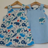 Animal Pockets 4 year-old Reversible dress
