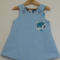 Animal Pockets 1 year-old Reversible dress
