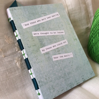 A6 Light Green Handmade Notebook for Dancers