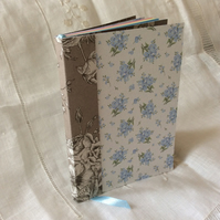 A6 Blue Taupe Forget-Me-Not Floral Notebook Journal
