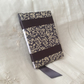 A6 Navy Blue Floral Filigree Hand-bound Notebook Journal