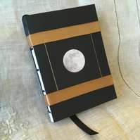 A6 Handbound Moon Photograph Sketchbook with Gold Ribbon ONE-OF-A-KIND