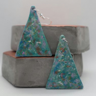 Handmade and unique polymer clay earrings