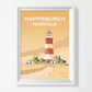 Happisburgh Lighthouse Sunset Norfolk - A4 Vintage Retro Style Rail Art Poster