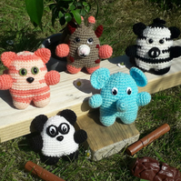 Mini ZOO crochet animals - SET