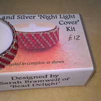 Red and Silver Beaded nightlight cover kit