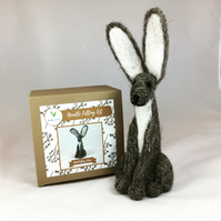 Dark Grey Hare - Needle Felting Kit