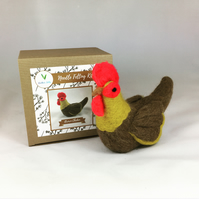 Brown Chicken - Needle Felting Kit