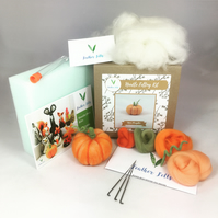 Mini Pumpkin - Needle Felting Kit with Felting Foam