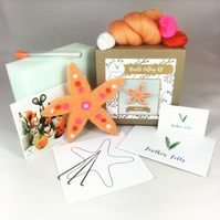 Starfish - Needle Felting Kit with Felting Foam