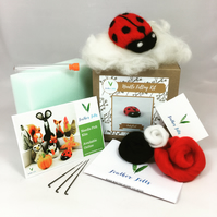 Ladybird - Needle Felting Kit with Felting Foam