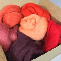 Light To Dark Red - Merino Wool Bundle