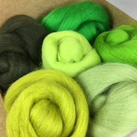 Light To Dark Green - Merino Wool Bundle