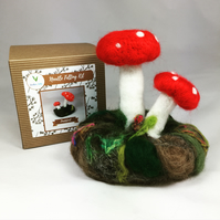 Toadstool - Needle Felting Kit