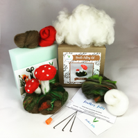 Toadstool - Needle Felting Kit with Felting Foam