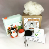 Penguin - Needle Felting Kit with Felting Foam