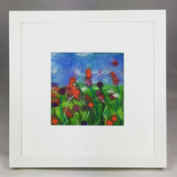 Summer Garden - Cottage Garden Series - Original Felt Artwork