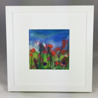 Summer Border - Cottage Garden Series - Original Felt Artwork