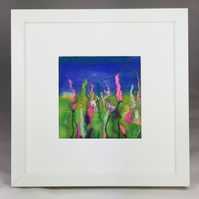 Reaching for the Sun - Pink Explosion Series - Original Felt Artwork