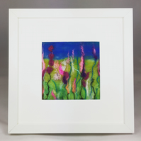Spires of Pink - Pink Explosion Series - Original Felt Artwork