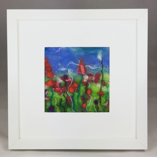 Garden Flowers - Cottage Garden Series - Original Felt Artwork