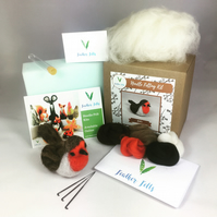 Robin - Needle Felting Kit with Felting Foam