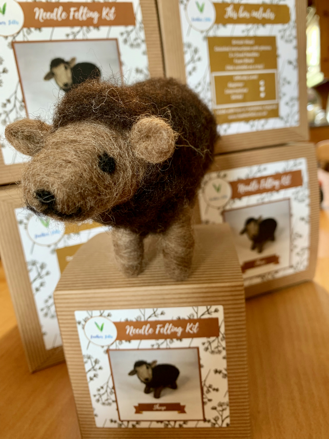 Brown Sheep - Needle Felting Kit