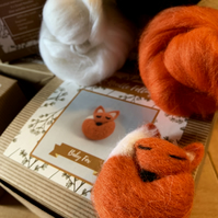 Baby Fox - Needle Felting Kit