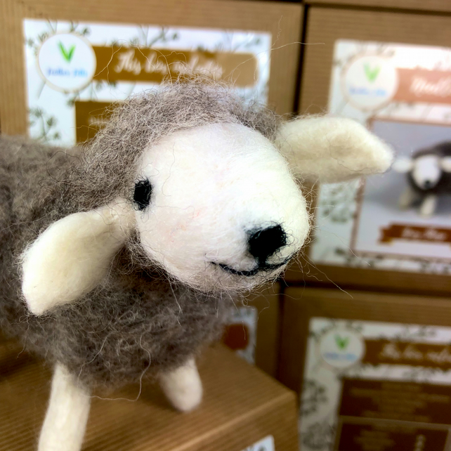 Grey Sheep - Needle Felting Kit