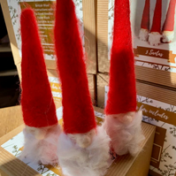 3 Santas - Needle Felting Kit