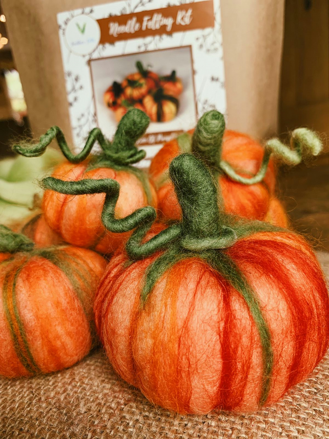 Collection of Pumpkins - Needle Felting Kit