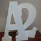 "FREE STANDING WOODEN letters large 25 cm, (10"") painted wooden letter, numbers"
