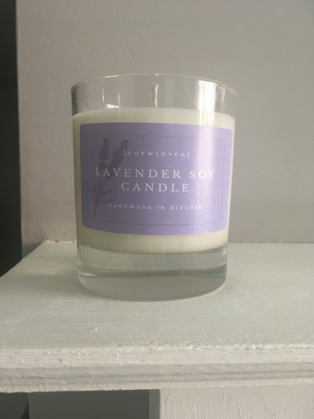 Handmade Lavender Soy Wax Candle