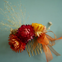 Hair Comb made with Dried Flowers
