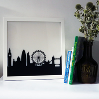 London Skyline Lightbox Artwork