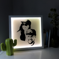 Personalised Lightbox Portrait - Your face on a lightbox!