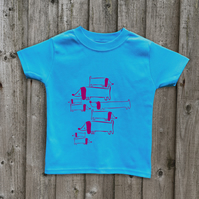DOGS T shirt in 7 colours Age 1 - 6 yrs