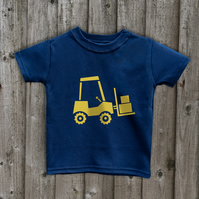 FORK LIFT TRUCK  Kids T shirt 7 colours Age 1 to 6 yrs
