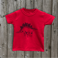 STEGOSAURUS Kids T shirts 7 colours Age 1-6 yrs