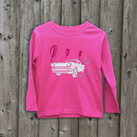 CLASSIC CAR Glow in the dark kids long sleeve top