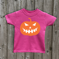 Halloween pumpkin Kids Glow in the Dark  T shirt