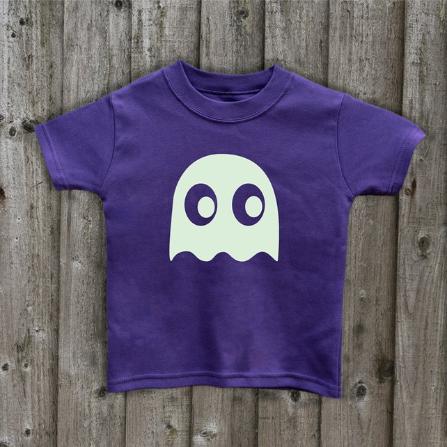 HALLOWEEN GHOST  Glow in the Dark  T shirt